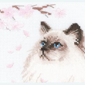 Meow-Zen -  borduurpakket met telpatroon Riolis |  | Artikelnummer: rio-1878