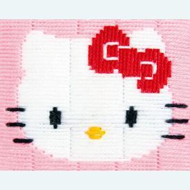 Hello Kitty - Vervaco borduurpakket in platsteek, voor kinderen  |  | Artikelnummer: vvc-148232
