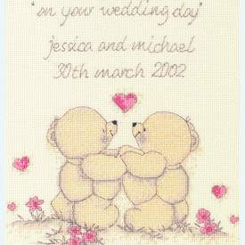 Wedding Sampler - Forever Friends borduurpakket met telpatroon - Coats Crafts |  | Artikelnummer: cts-frc45