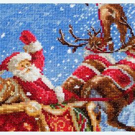 Reindeer Stocking - borduurpakket met telpatroon Letistitch      Artikelnummer: leti-989