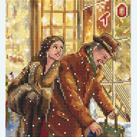 Christmas Expectation - borduurpakket met telpatroon Letistitch |  | Artikelnummer: leti-943