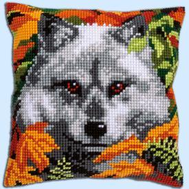 Wolf - Vervaco Kruissteekkussen |  | Artikelnummer: vvc-158066