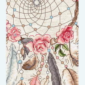 Live your Dreams - borduurpakket met telpatroon Letistitch |  | Artikelnummer: leti-957