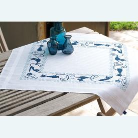 Cheerful Cats theenap - voorgedrukt borduurpakket - Vervaco |  | Artikelnummer: vvc-153854