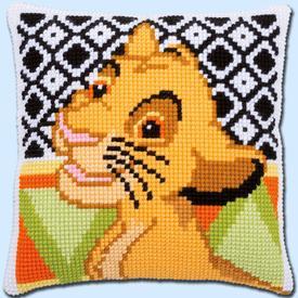 Simba - Vervaco Kruissteekkussen - Disney |  | Artikelnummer: vvc-183967