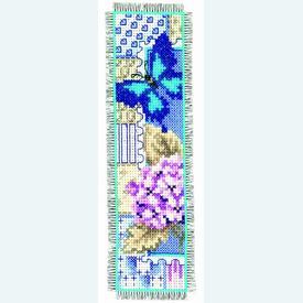 Bladwijzer Hortensia and Butterfly - kruissteekpakket met telpatroon Vervaco |  | Artikelnummer: vvc-145090