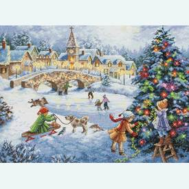 Winter Celebration - borduurpakket met telpatroon Dimensions |  | Artikelnummer: dim-70-08919
