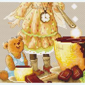 Chocolate Fairy - borduurpakket met telpatroon Luca-S |  | Artikelnummer: luca-b1131