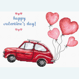 Happy Valentine's Day - borduurpakket met telpatroon Letistitch |  | Artikelnummer: leti-983