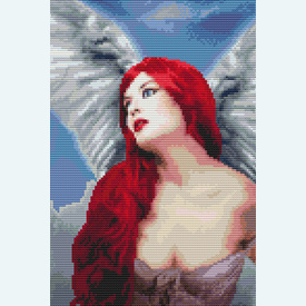 Angelic Red - Borduurpakket met telpatroon Orcraphics |  | Artikelnummer: orc-2015-08-03