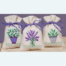Assortiment kruidenzakjes - Provence - Handwerkpakketjes met telpatroon Vervaco |  | Artikelnummer: vvc-167512