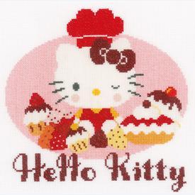 Hello Kitty - Pie Baking 2 - kruissteekpakket met telpatroon Vervaco  |  | Artikelnummer: vvc-154560