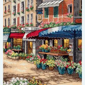 Paris Market - borduurpakket met telpatroon Dimensions |  | Artikelnummer: dim-35256