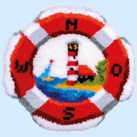 Lifebuoy - knooptapijt Vervaco | Smyrna tapijt met reddingsboei | Artikelnummer: vvc-179633