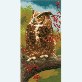 Owl in Autumn - kruissteekpakket met telpatroon Vervaco |  | Artikelnummer: vvc-164961