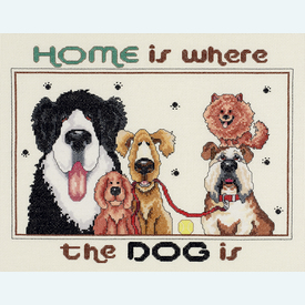 Home is Where the Dog is - borduurpakket met telpatroon Janlynn |  | Artikelnummer: jl-023.0514