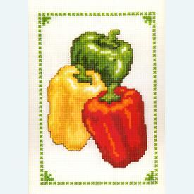 Peppers - borduurpakket met telpatroon Vervaco |  | Artikelnummer: vvc-70886