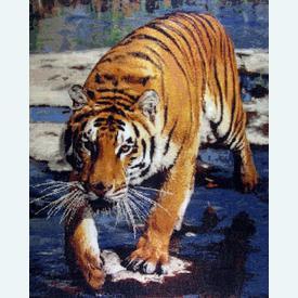 Tiger Run - Borduurpakket met telpatroon Orcraphics |  | Artikelnummer: orc-2013-01-07