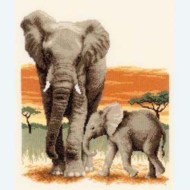 Elephant's Journey - borduurpakket met telpatroon Vervaco |  | Artikelnummer: vvc-21576