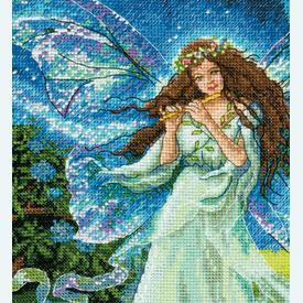 Spring Fairy - borduurpakket met telpatroon Dimensions |  | Artikelnummer: dim-70-35354