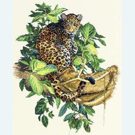 Leopard - borduurpakket met telpatroon Bucilla |  | Artikelnummer: buc-43691
