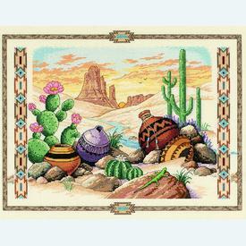 Charm of the Southwest - borduurpakket met telpatroon Dimensions |  | Artikelnummer: dim-03883