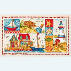 Gone to the Beach - borduurpakket met telpatroon Letistitch |  | Artikelnummer: leti-999