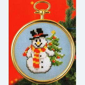 Snowman and Christmas Tree - borduurpakket met telpatroon Vervaco |  | Artikelnummer: vvc-46945