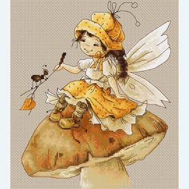 The Fairy - borduurpakket met telpatroon Luca-S |  | Artikelnummer: luca-b1109