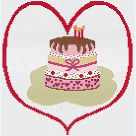 Celebration of Love - borduurpakket met telpatroon Nafra |  | Artikelnummer: nf-nafra21041