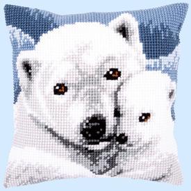 Polar Bears - Vervaco Kruissteekkussen |  | Artikelnummer: vvc-157960