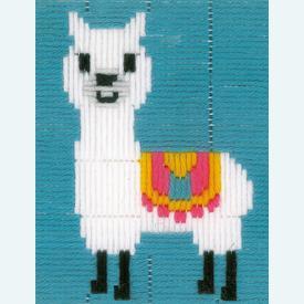 Llama - Vervaco borduurpakket in platsteek, voor kinderen |  | Artikelnummer: vvc-173595