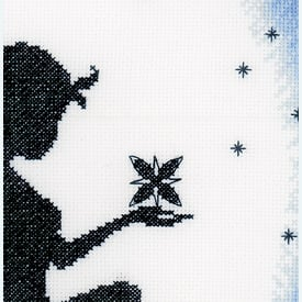 Fairy on the Moon - handwerkpakket met telpatroon Lanarte      Artikelnummer: ln-164077