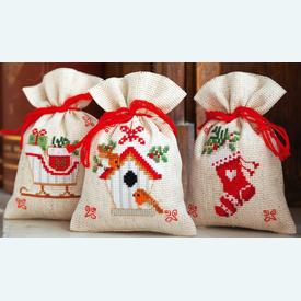 Assortiment kruidenzakjes - Christmas Motif - Handwerkpakketjes met telpatroon Vervaco |  | Artikelnummer: vvc-172213