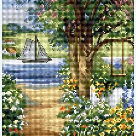 Summer Landscape 5000 - borduurpakket met telpatroon Luca-S       Artikelnummer: luca-bu5000