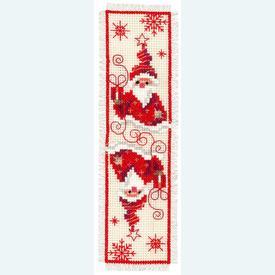 Bladwijzer Christmas Gnome 1 - kruissteekpakket met telpatroon Vervaco |  | Artikelnummer: vvc-148033