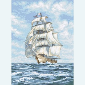 Ship - borduurpakket met telpatroon Letistitch |  | Artikelnummer: leti-907