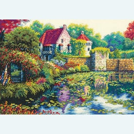 English Castle - borduurpakket met telpatroon Dimensions |  | Artikelnummer: dim-70-35326