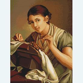 Lace-Maker - kruissteekpakket met telpatroon Luca-S      Artikelnummer: luca-b427
