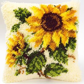 Sun Flower - smyrna kussen Vervaco | Knoopkussen met zonnebloem | Artikelnummer: vvc-2560-3595