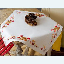 Hedgehog and Mushrooms theenap - kruissteekpakket met telpatroon Vervaco |  | Artikelnummer: vvc-155619