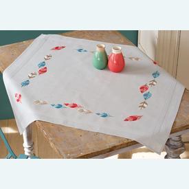 Feathers theenap - voorgedrukt borduurpakket van Vervaco |  | Artikelnummer: vvc-157563