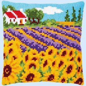 Sunflower Field - Vervaco Kruissteekkussen |  | Artikelnummer: vvc-189681