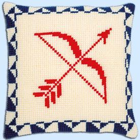 Astrology Signs  - Vervaco Kruissteekkussen | telpakket deels voorgeschilderd | Artikelnummer: vvc-169792b