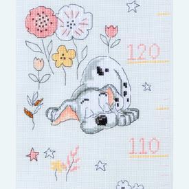 Growing Chart: Little Dalmatian - Disney borduurpakket met telpatroon Vervaco | Groeimeter dalmatiërs | Artikelnummer: vvc-170509