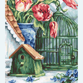 Quaint Little Neighbourhood - borduurpakket met telpatroon Luca-S |  | Artikelnummer: luca-b2395