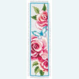 Set van 2 bladwijzers - Roses - Handwerkpakketten met telpatroon Vervaco |  | Artikelnummer: vvc-150899