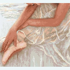 Tenderness - borduurpakket met telpatroon Letistitch |  | Artikelnummer: leti-924