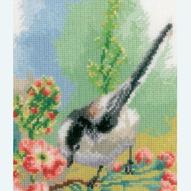 Chickadees and Blossoms - borduurpakket met telpatroon Vervaco |  | Artikelnummer: vvc-163024