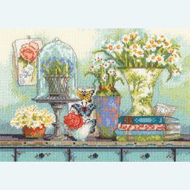 Garden Collectibles - borduurpakket met telpatroon Dimensions |  | Artikelnummer: dim-70-65194